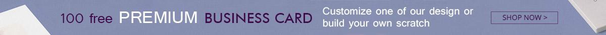 100 free PREMIUM BUSINESS CARD