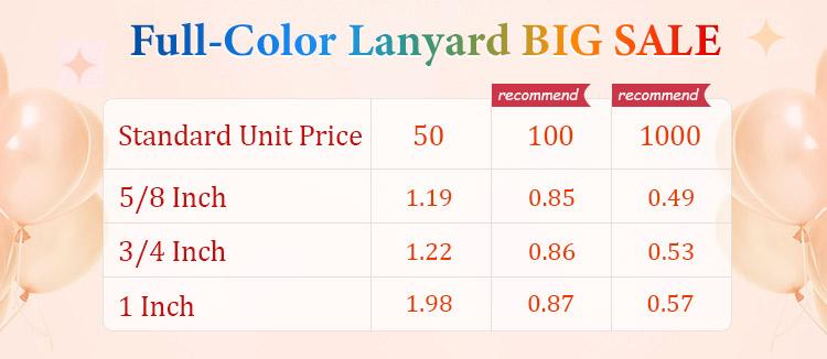 Full-Color Lanyard Big Sale